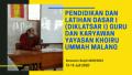 Pendidikan dan Latihan Dasar I (DIKLATSAR I) Guru dan Karyawan Yayasan Khoiru Ummah Malang