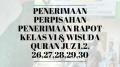 Penerimaan Perpisahan & Penerimaan Rapot Kelas VI (Wisuda Qur'an Juz 1,2,26,27,28,29,30)